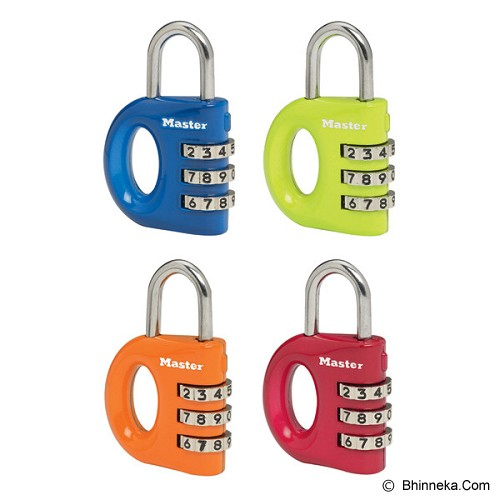 MASTER LOCK Combination Padlocks Printed Pattern [633T] - Red - Gembok Kombinasi